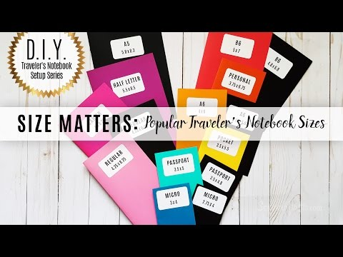 DIY Traveler's Notebook Setup Series: Size Matters - Popular Traveler's Notebook Sizes (in Inches)