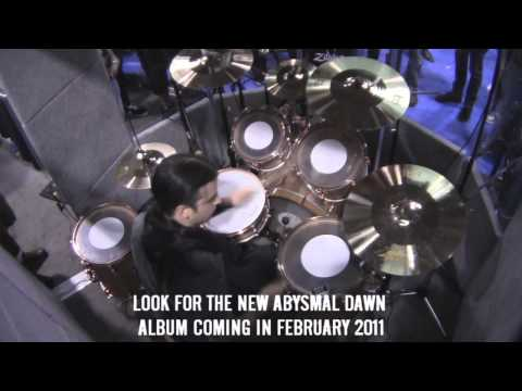 Sick Drummer Magazine - NAMM 2011 - Scott Fuller / Abysmal Dawn - Axis Booth Playing Around