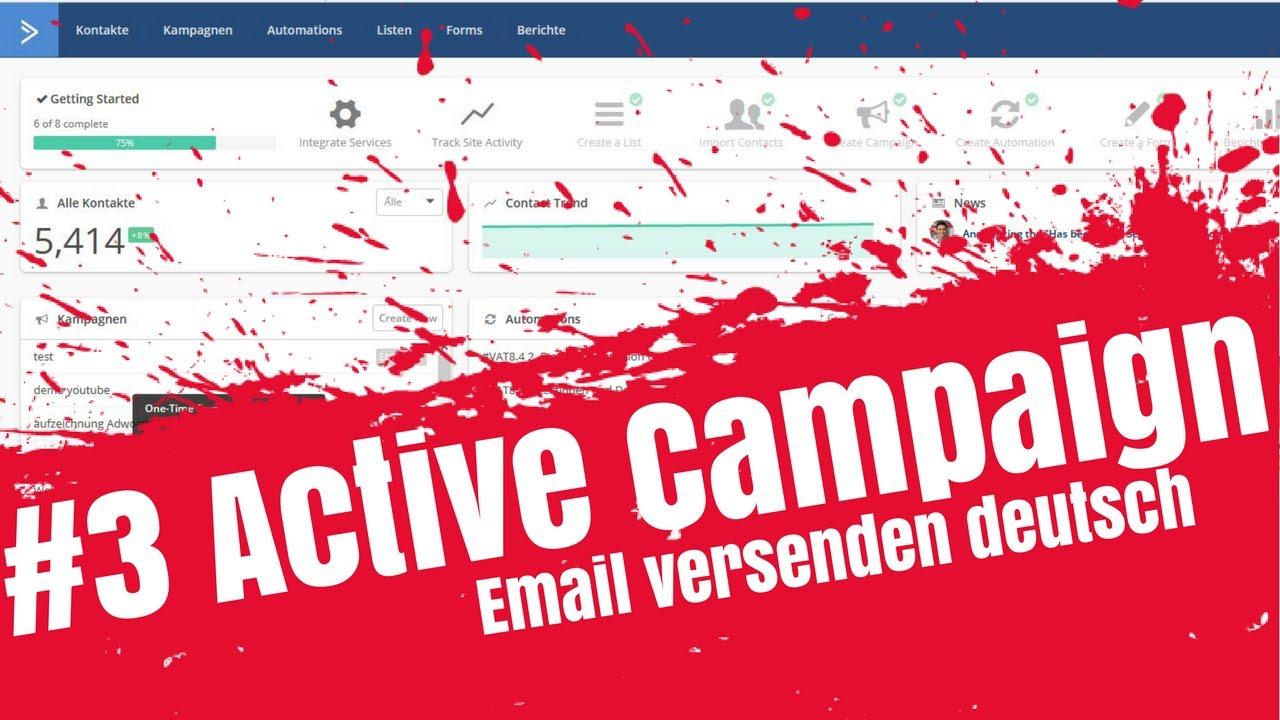 #3 Active Campaign Email versenden deutsch