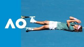 Tsitsipas' winning tiebreak (QF)   Australian Open 2019