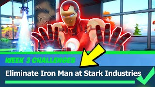 Eliminate Iron Man at Stark Industries - Fortnite