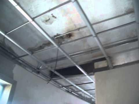 Instalaci n electrica en muros de tablaroca y plafon youtube for Techos de tablaroca