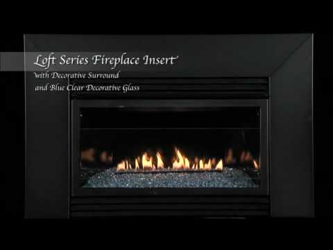 Loft Series Vent-Free Fireplace Insert with Surround and ...