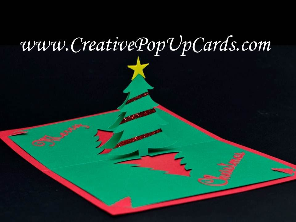 easy christmas tree pop up card youtube. Black Bedroom Furniture Sets. Home Design Ideas