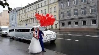 Запуск сердец на свадьбе.