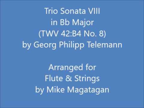 Trio Sonata VIII in Bb Major (TWV 42:B4) for Flute & Strings
