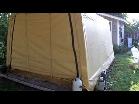 Building the Harbor Freight Portable Garage - Part 2 ...