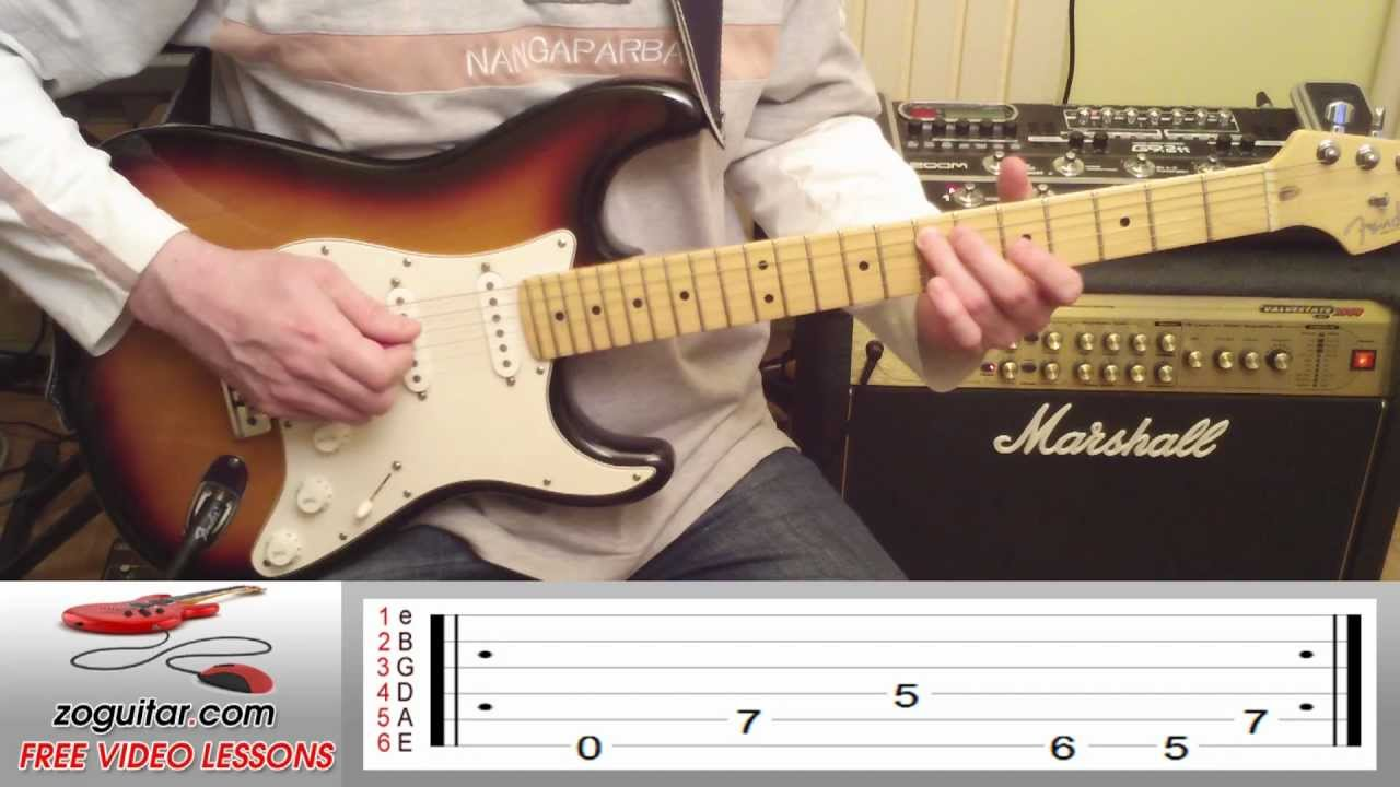 How To Play Enter Sandman By Metallica On Guitar Intro Tab Youtube