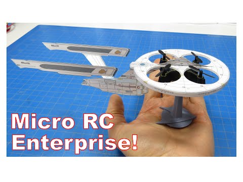 Make a Micro Remote Control Starship Enterprise -- Free Template Download!