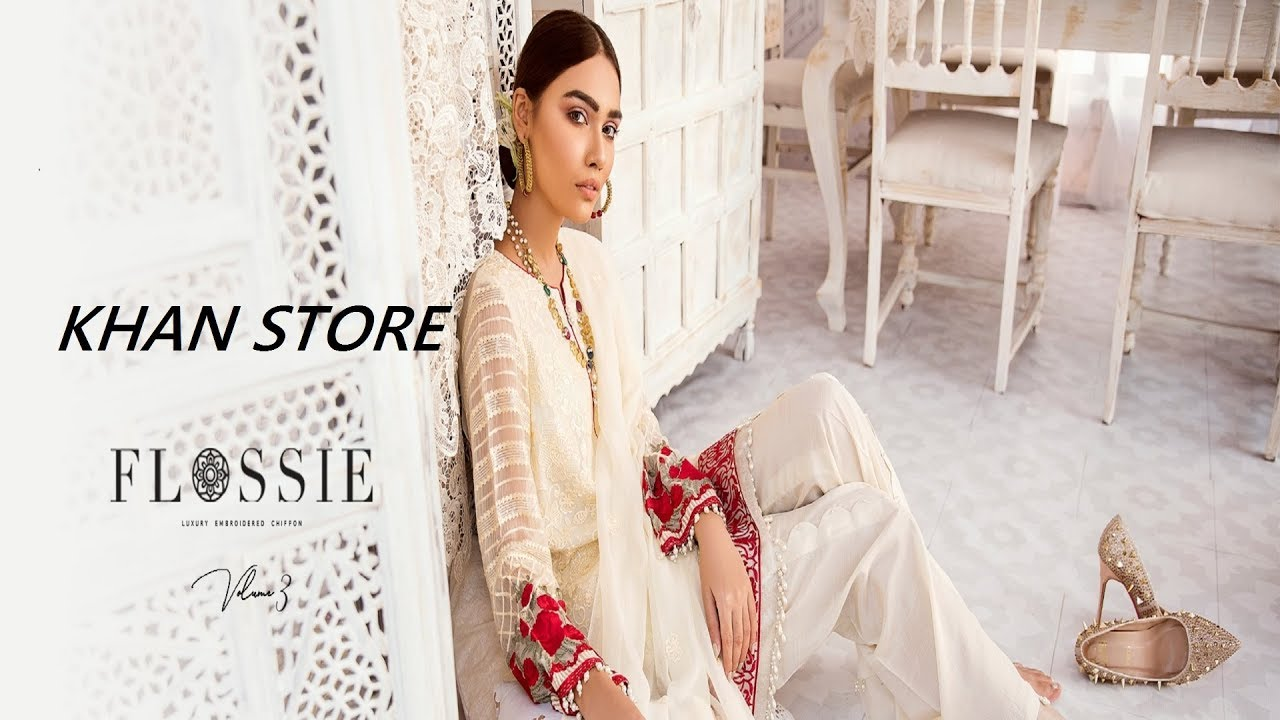 ce2c6d5d79 LATEST NEW | ZARYAB EMBROIDERED CHIFFON | COLLECTION 2018 BY FLOSSIE ||  KHAN STORE