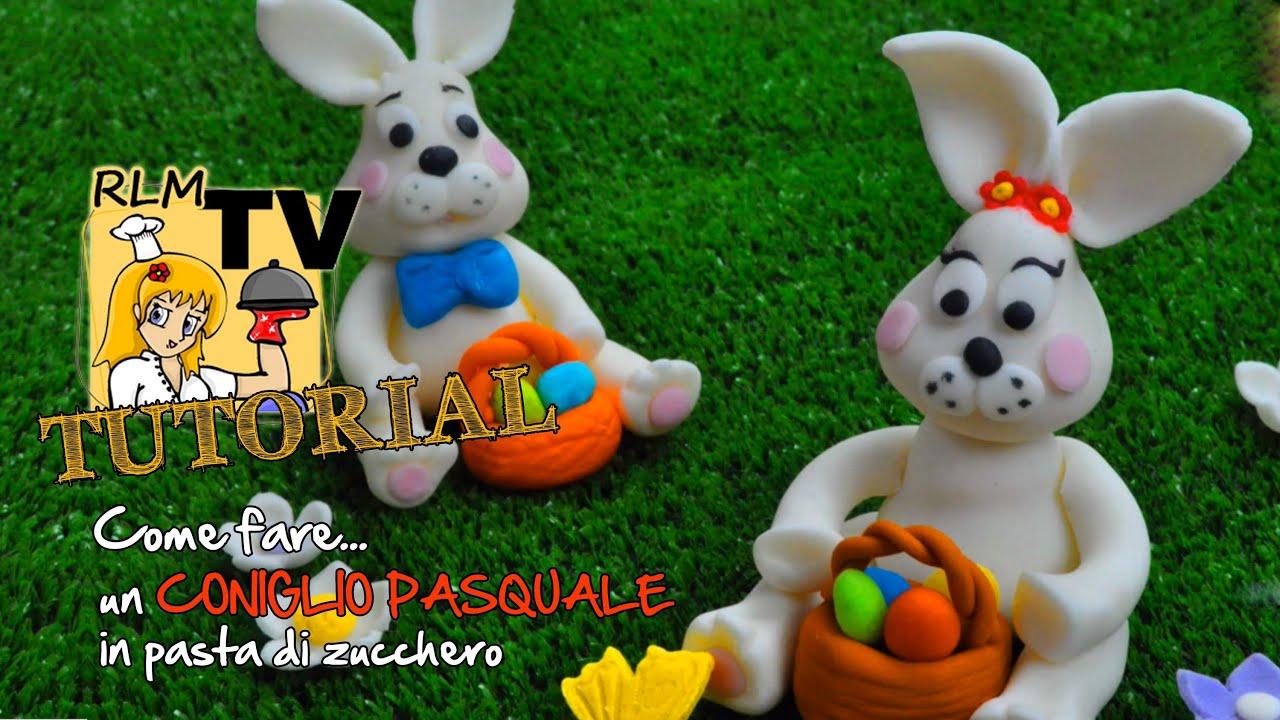 Come fare un coniglio pasquale in pasta di zucchero youtube - Modelli di coniglietto pasquale gratis ...