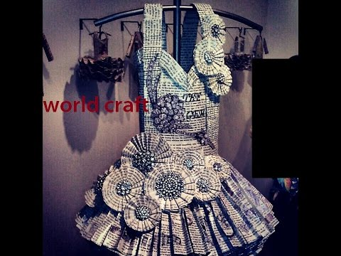 Paper Dress World Craft Youtube