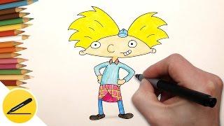 Эй, Арнольд! - Как Нарисовать Арнольда поэтапно - Уроки рисования