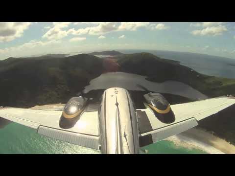 Flight from San Juan to Culebra, Puerto Rico