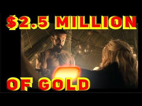 2.5 MILLION dollars of GOLD! -Ridiculously expensive ways to kill a jerk!!