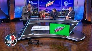 Paul Pierce drops trophy trying to hand it to Jalen Rose | NBA Countdown