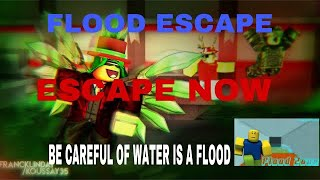 Playing Flood escape with my friends Amir And Halay (ROBLOX)