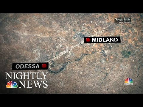 At Least 1 Person Dead, 20 Injured In Shootings In Odessa And Midland, Texas | NBC Nightly News