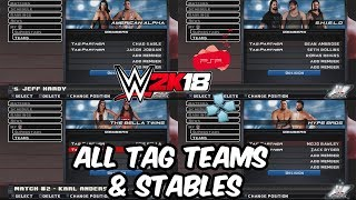 WWE 2K18 PSP, Android/PPSSPP - All Tag Teams & Stables in v1.77