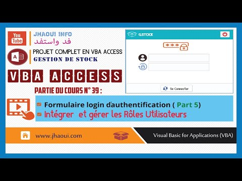 #39 : VBA Access G.Stock - Login Authentication - Users & Roles (Part2)