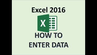 Excel 2016 - How To Enter Data in a Worksheet - Entering Inputting and Editing Input in MS Computer