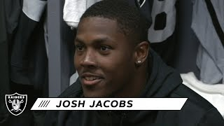 Josh Jacobs Recaps His Career-High Game vs. Packers | Raiders