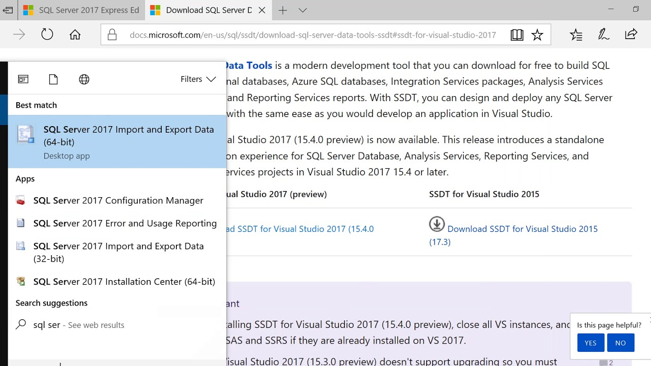 IPGRAY : SQL Server - how to download and install Sql Server data tools for  Visual Studio 2017