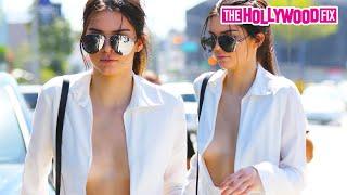 vuclip Kendall Jenner's Near Wardrobe Malfunction By Nip-Slip In Dangerously Low Cut Top  7.14.15