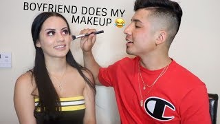 Boyfriend does my makeup! 😜