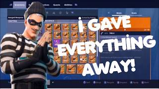 GIVING AWAY EVERYTHING! Fortnite Save The World Live Giveaway #1