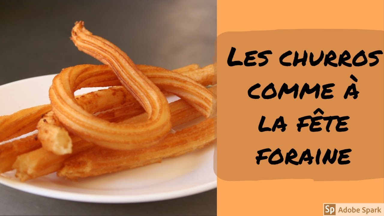 Recette Churros De Fete Foraine les vrais churros facile avec 3 ingrédients ? recette vegan sans oeufs ni  lait (spécial confinement)