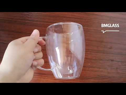 Heat Resistant Glass Double Layer Glass Tea Cup Set Cheap - ...