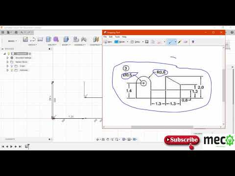 Autodesk Fusion 360 Part Modeling Tutorials 2(  Advanced Sketch Modeling Example) thumbnail