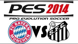 PES 2014 DEMO - Bayern Munich vs Santos FC (FULL GAMEPLAY/NO COMMENTARY]