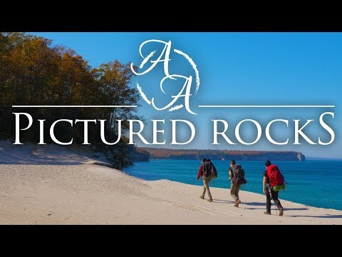 pictured-rocks-lakeshore-in-4k-|-fall-camping,-hiking,-and-backpacking-in-the-upper-peninsula