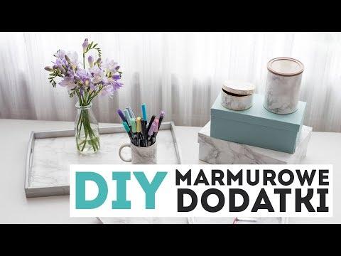 DIY marmurowe dodatki do wnętrz    Design Your Life