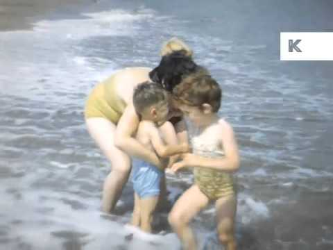 Late 50s Early 60s UK Seaside Family Holiday, Home Movies