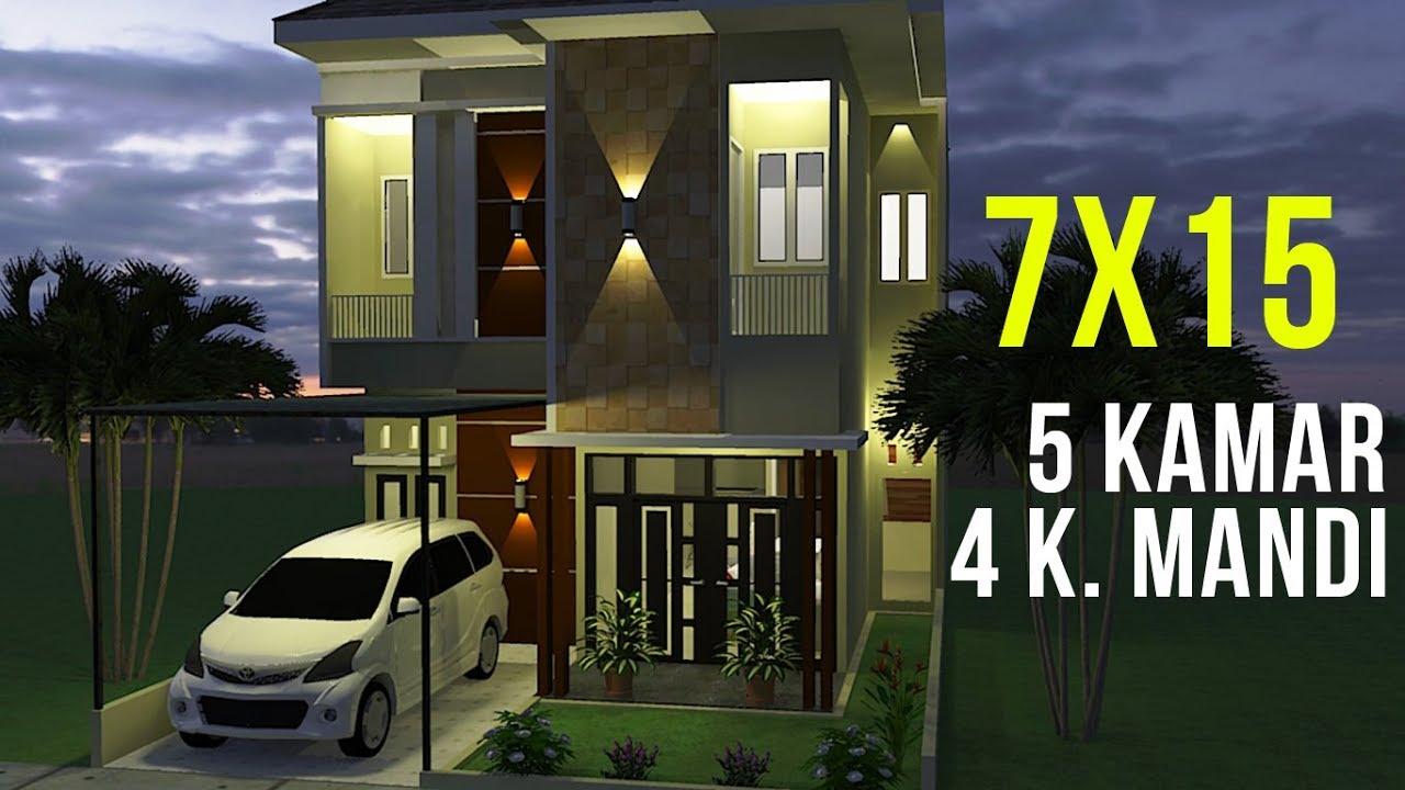 106 Gambar Desain Rumah Minimalis 2 Lantai 7X15 Yang Bisa Anda Contoh Unduh