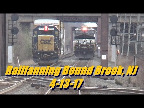 Railfanning New Territories: A Bounty at Bound Brook, NJ 4-13-17