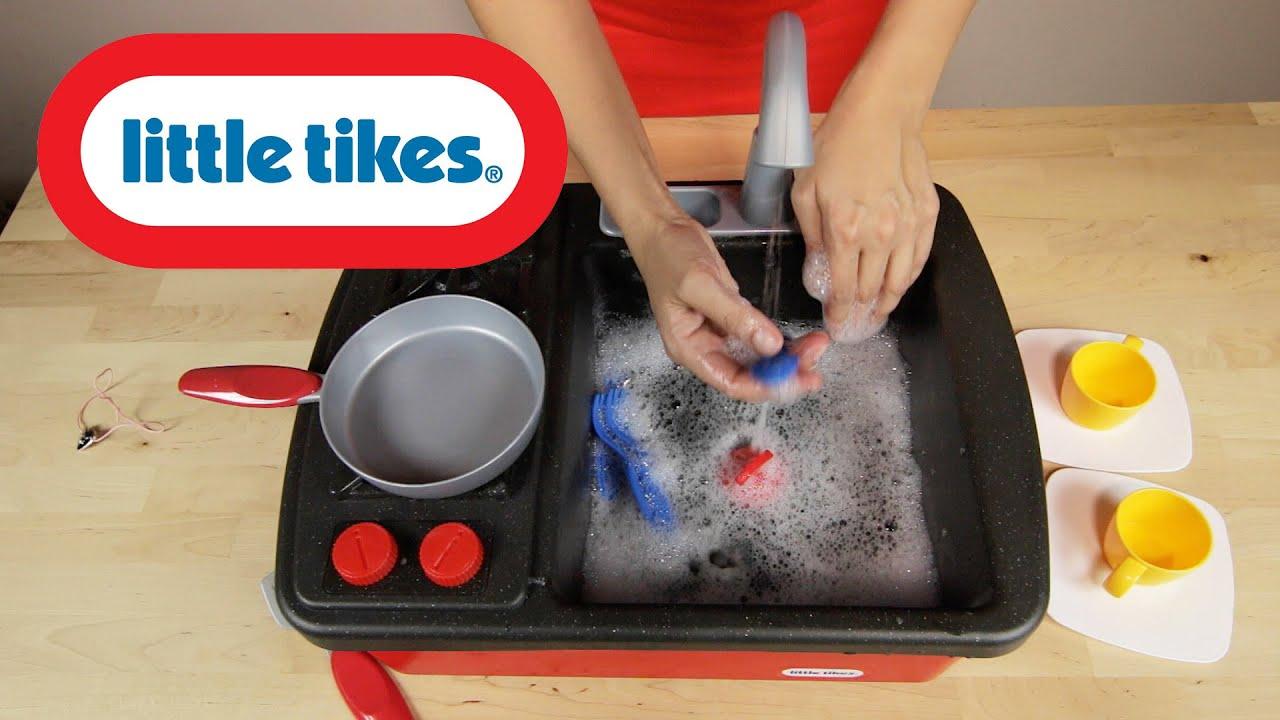 Little Tikes Splish Splash Sink & Stove  Zlewozmywak z obiegiem wody i a  -> Kuchnia Little Tikes Nauka Gotowania