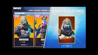 Unlocked New Enforcer Skin Game Play | Season 5 | Fortnite Battle Royale | Save The World |