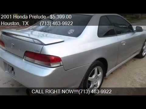 2001 honda prelude type sh for sale in houston tx 77080 at youtube. Black Bedroom Furniture Sets. Home Design Ideas