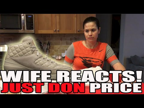 Wife's Reaction To Price Of Just Don x Air Jordan 2 Beach Box Set!