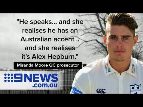 Aussie Cricketer Alex Hepburn charged with raping woman in Britain | Nine News Australia