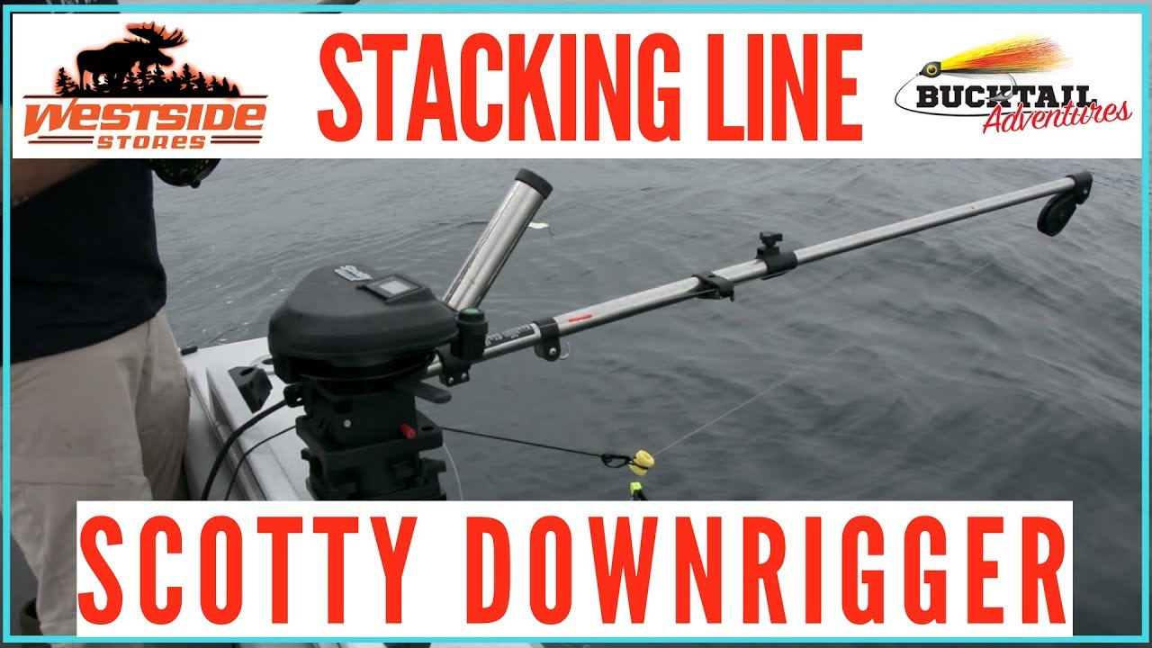 Stacking Lines On A Scotty Downrigger: 2018