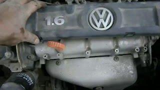 VW POLO  - Быстрая замена свечей зажигания.