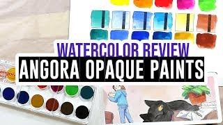 Review & Demo - Talens Angora 14 colors opaque watercolor set