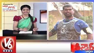 Bithiri sathi as baahubali, watch sathi's satirical conversation with savitri over baahubali winning national film award. v6 special program te...