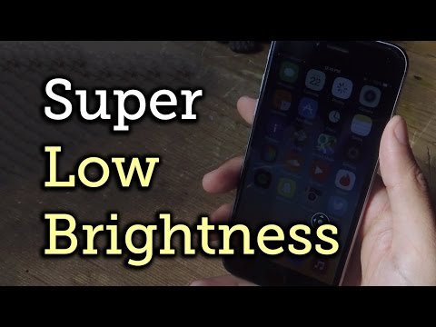 Lower Screen Brightness Below the Default Level on Your iOS Device HowTo
