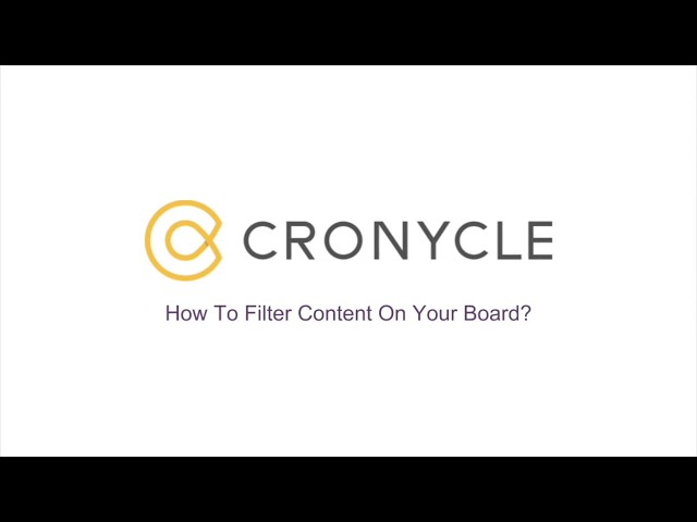 Filter Content On Your Board
